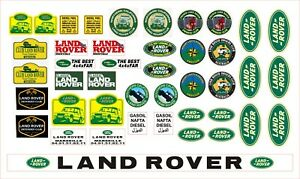 Scale crawler 1/10 / AXIAL / TRAXXAS TRX4 / RC4WD / DEFENDER STICKERS