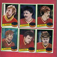 1980-81 TOPPS CALGARY FLAMES   NRMT++ CARD LOT