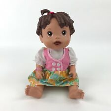 Baby Alive Interactive Doll 2009 Brown Eyes Brown Curly Molded Hair w Outfit