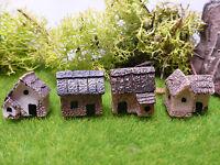 Miniatures Tiny Cottages  Mini Fairy Moss Gardens Terrariums Bonsai Cake Decor