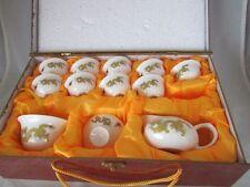 Asian Jing Pin Yu Ci Tea Set 9 Cups Sugar Bowl Creamer Tea Service Porcelain Chi