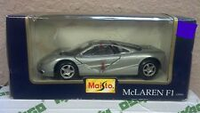 Maisto McLaren F1 1/24 Scale Diecast Silver NIP NEW Vintage Rare Sports Car COOL