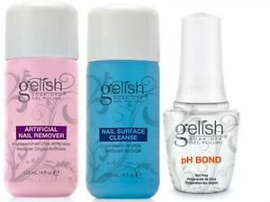 Harmony Gelish 3pc Kit Cleanse 4oz + Remover 4oz + pH Bond