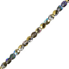 "CRYSTAL GOLDEN Arcobaleno 6mm Czech Fire lucidate Perline 6 ""Strand 25 Piece (G105 / 2)"