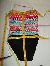 La Blanca 'Shoreline' One Piece Bandeau Swimsuit Multicolor 8