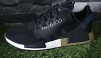 Adidas Originals NMD R1 V2 Men's Trainers Running Shoes FW5327 Black Gold White