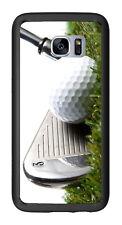 3 Iron Golf Club Hitting Golf Ball For Samsung Galaxy S7 Edge G935 Case Cover by