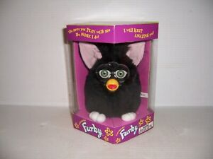 1998 First Edition/1st Edition FURBY All-Black/Green Eyes/Pink/White 70-800 NEW