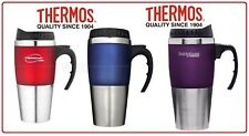 ❤ Thermos STAINLESS STEEL VACUUM INSULATED Cafe Travel Mug Double Wall 450ML ❤