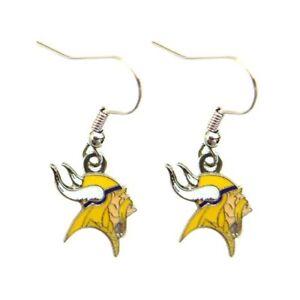 aminco Minnesota Vikings Dangle Logo Earring Set Charm Gift