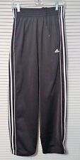 WOMEN ADIDAS BLACK white STRIPES ATHLETIC Work Out Jogging Running PANTS SMALL