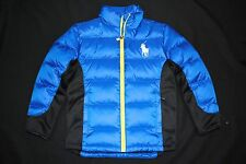 NEW KIDS Boys Ralph Lauren POLO BIG Pony Active Ocean Down Jacket L(14-16)$185