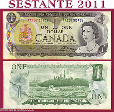 CANADA 1 DOLLAR 1973 - P 85a Tipe 2 ( 3 letters)  - SPL++/ QFDS  ;   XF++ / AUNC