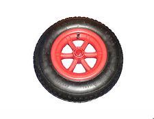 """RED SPOKED wheelbarrow / Trolley Wheel Pneumatic 16"""" Tyre 4.80 - 8 Barrow"""