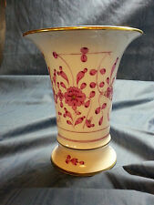 Beautiful Meissen Purple Indian Gold Gilt Vase