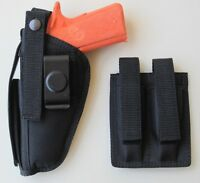 Gun Holster Hip Belt & Magazine Pouch Combo for COLT 45 1911 5""