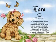 """""""Girl Puppy"""" Personalized Name Meaning Prints (Girl Teenager Child Dogs)"""