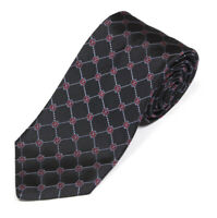 BROOKS BROTHERS Navy Blue Red Link Diamond Grid All Business Men's Silk Neck Tie