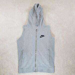 Nike Sportswear Sweater Youth 13-15 Years Grey Black Full Zip Hoodie Kids Boys *