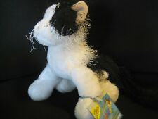Webkinz Full size BLACK & WHITE CAT  unused code NEW!