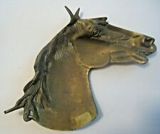New listing Vintage Solid Brass Equestrian Horse Head Detailed Ashtray