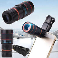 8x Zoom Optical Camera Telescope Lens + Universal Clip Kit For Mobile Cell Phone