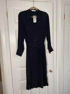 Black Mango midi shirt dress size M