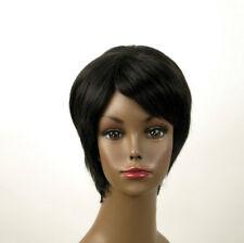 perruque afro femme 100% cheveux naturel courte noir ref KITTY 02 1B