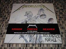METALLICA  AND JUSTICE FOR ALL  Green vinyl 45rpm  4LP Boxset
