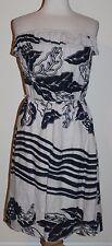 DEPT Srapless Linen Summer Dress Khaki Tan and Black M Medium