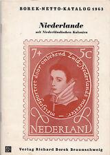 BOREK Briefmarkenkatalog, Niederlande inklusief Niederländische Gebiete, 1963