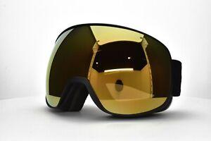 ADIDAS Snow Goggles AntiFog Black Gold mirror New Authentic 83 50