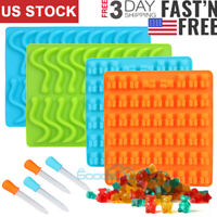Gummy Bear Mold Candy Making Supplies Chocolate Ice Maker Silicone Molds 1/4Pack