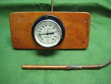 VINTAGE Powers REGULATOR Co. DIAL THERMOMETER INDUSTRIAL GAUGE 0-155