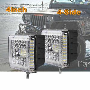 4Inch 580W LED Combo Work Light Spotlight Off-road Driving Fog Lamp Truck Boat