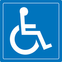 WHEELCHAIR ACCESSIBLE SIGN | Adhesive Vinyl Sign Decal