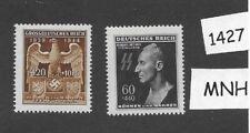 MNH stamp set / Reinhard Heydrich 1943 and WWII Emblem / 1944 /  FREE HOLDER!