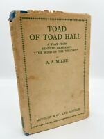 Toad of Toad Hall  – FIRST EDITION – 1st Printing – A. A. MILNE 1929