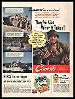 1944 WWII ALLIGATOR LVT Landing Vehicle Tacked Amphibious Assault Camel Cigs AD
