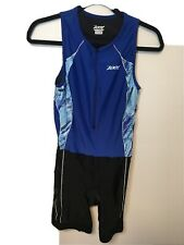 Zoot Sleeveless Triathlon Race Suit Tri Size Large Womens Blue Black Excellent