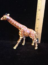 "Schleich Spotted Orange and White Giraffe Figure~ 4.5"" long 3.5"" high"