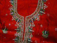 INDIAN PUNJABI DESIGNER UNSTITCHED SALWAR KAMEEZ WEDDING WEAR SUIT