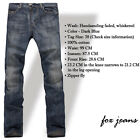 FOX JEANS Men's Gerald Classic Comfort-Fit Straight Blue Denim Jeans SIZE 32-44
