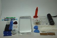 Samsung S7 Edge Argento Kit di Riparazione Schermo Frontale, Filo, Colla, Torcia