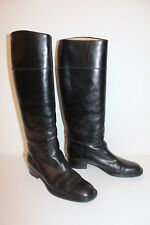 Stafford echt Leder Stiefel 37 37.5 NERO MONTALA STIVALI LEATHER riding boots uk4