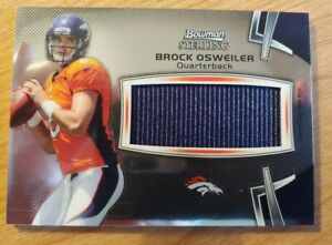 Brock Osweiler RC 2012 Bowman Sterling Jumbo Rookie Relic #BSJRR-BO Broncos