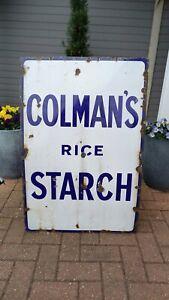 Colmans Rice Starch Enamel Sign