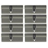 8x Profilzylinder 70mm 30/40 +40 Schlüssel Tür Zylinder Schloss gleichschließend