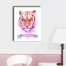 50×60×3cm Watercolor Tiger Canvas Print Framed Wall Art Home Decor Painting