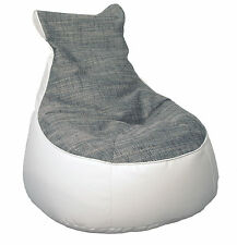 Sitzsack Sitzkissen Comfort Lotos Minadra Mod. 1093331 Weiss Grau